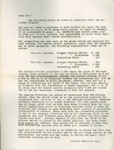 1930s Letter from Richard Marklin Toys