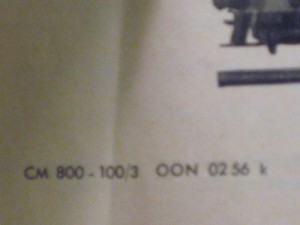 "CE 800 Instruction sheet ""02 56"""