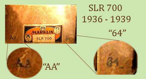 Marklin SLR 700 - 1936