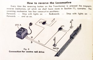 00 reversing with 270A transformer;  800 Instructions for the electric miniature railway