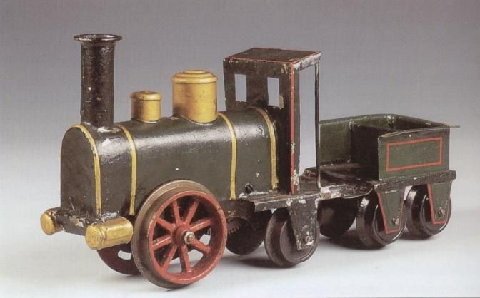 Märklin's first clockwork engine.  1891; Wertanlage Märklin, p. 12