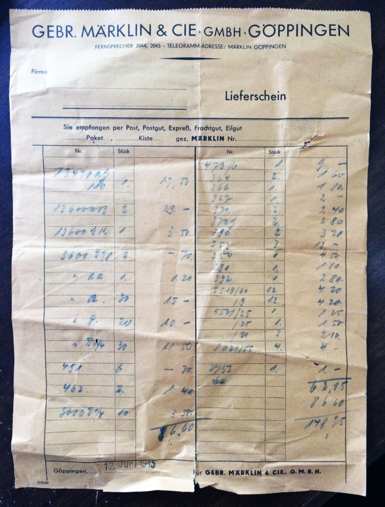 June_1945_Marklin_Receipt