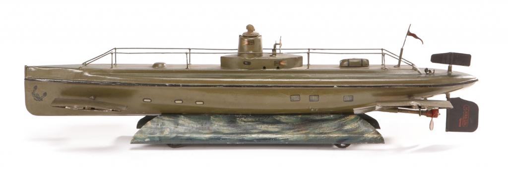 Marklin 1920s clockwork submarine