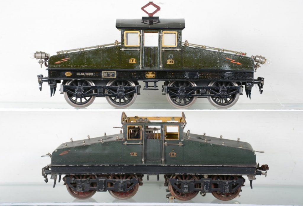 Two Marklin Steeple-cab locos