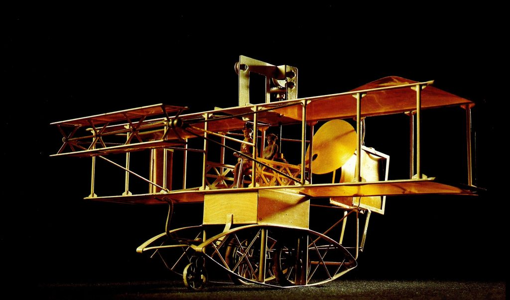 Marklin Biplane 5418, largest plane dates from 1909. Source Christie's